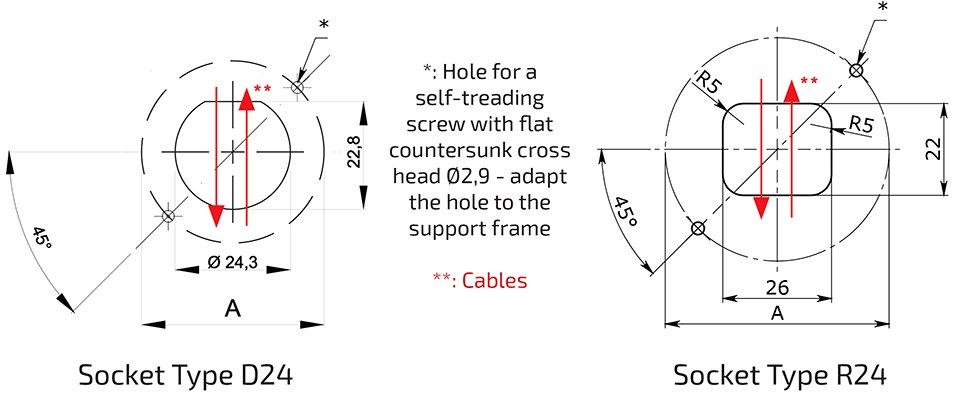 Fun-Spot 45 mm to 75 mm Drilling Scheme Template