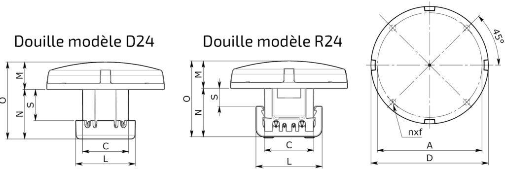 Fun-Spot D100 mm AMOVIBLE FRONTALEMENT – AMPOULE COMPLETE