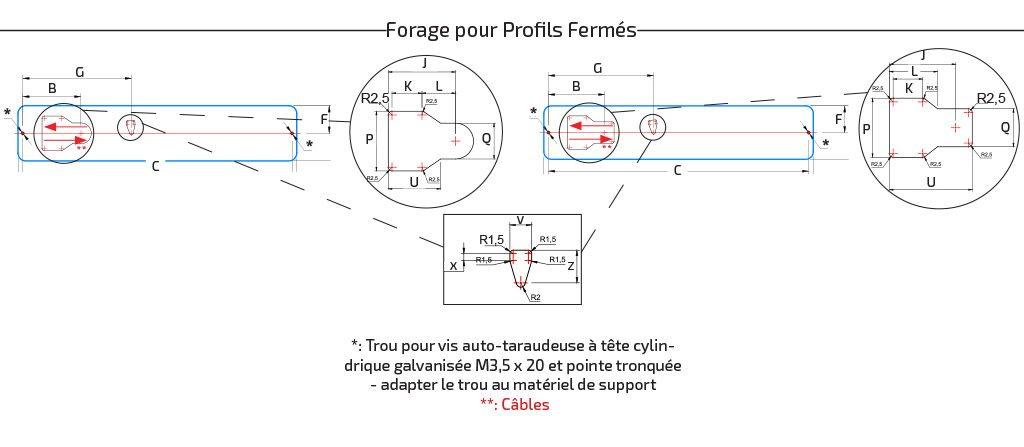 Fun-Module L322 - L472 Forage pour Profils Fermés